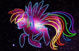 Rainbow Dash Space Background Wallpaper *fixed* by artoftheghostie