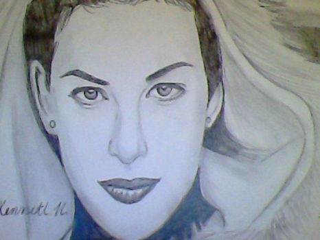 Liv Tyler Realistic Quick Drawing by kennethkangaroo