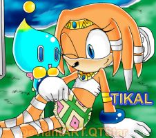 Tikal the echidna by QTStartheHedgehog