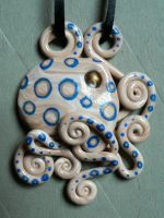 Blue Ringed Octopus Necklace by BlackMagdalena