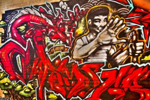 Red Graffiti HDR 1 by AaronPlotkinPhoto