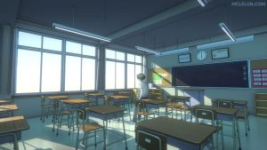 Blender3D Japanese Classroom Color 1 by mclelun