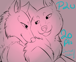 Pay to Use: Fluffy Cuddles Line Art 20pts by Whitelupine