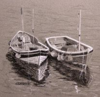 Two Boats by mbeckett