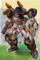 Jake's Optimus Primal by DrewEiden