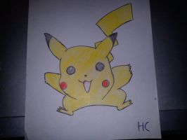 Pikachu drawing by oohcoo