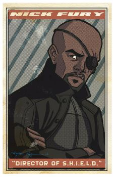 Avengers Poster: Nick Fury by EmpressFunk
