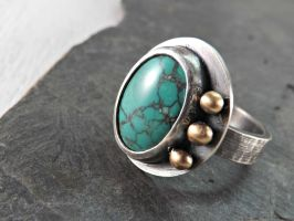 turquoise ring by Siihraya