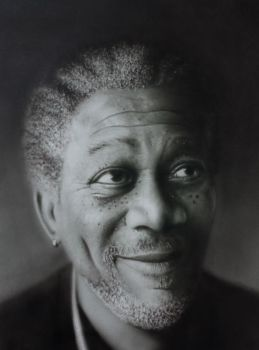 Airbrush - Morgan Freeman by Graphxstudio