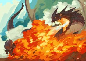 Dragonfire aka the egg chase by tohdaryl