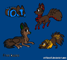 Wolf Adoptables [CLOSED] by bro-palmer