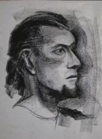 Portrait Drawing 1 by MesolimbicArt
