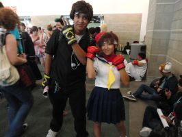 Kyo and Sakura Cosplay at Anime Expo LA 2012 by BlueWolfRanger95