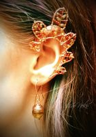 Autumn Leaf Ear Cuff by ShirNek0