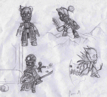 Doodling Spiral Knights by Tingcat