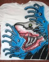 Freehand Airbrushed shirt W.I.P 2 by RealityBitez