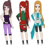 Naruto female adpotables [open] by Devilinatrong