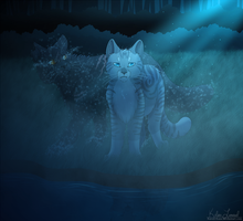 Spirit - Jayfeather and Yellowfang by Raven-Kane