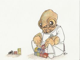 Admiral Ackbar by AmberStoneArt