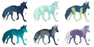 Cheap blue foxes (OPEN) by coIored