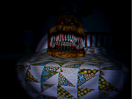 Nightmare Fredbear head 3D by Cosmicmoonshine