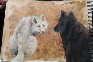 Cafe + Paint - Wolves by shayxy