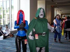 Mystique and Dr. Doom by TheIronClown