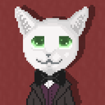 Cat avatar suited by Cercan