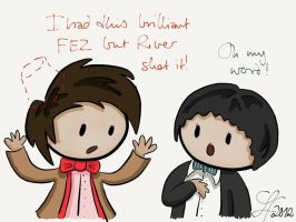 Second and Eleventh Doctor Share Fashion Tips by gnasler
