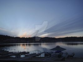 Sunset on Lake Arrowhead by Defiant-Retribution