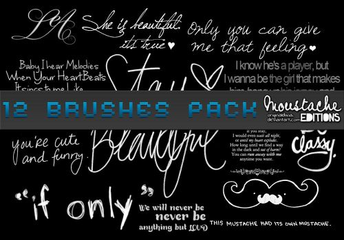 Text Brushes pack by originaldixia