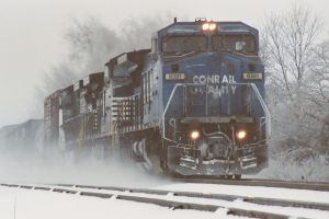 NS 15T in the Snow by Trainman51