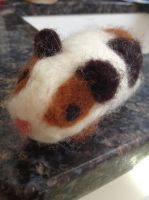 Needle Felt Ginea Pig by Bubble-Ribbon