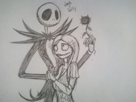 Free Request: Jack and Sally by invaderwolfgirl