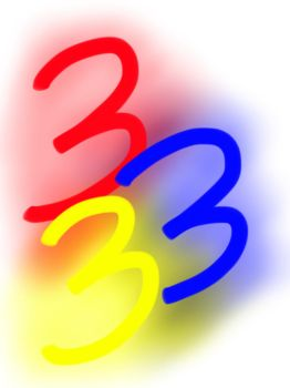 The number 3 by Fimili