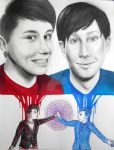 Dan and Phil Portraits by RavenDANIELS