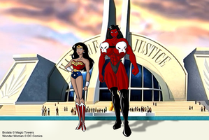 Brutala and Wonder Woman by MagicTowers