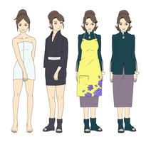 Mrs. Yamanaka Outfits Color by SunakiSabakuno