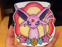 Espeon Mini Drawing by sazmullium