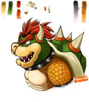 Bowser sketch by NintendoDimension