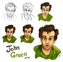 John says his favorite color is Green. by Nukaleu