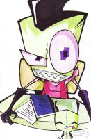 Invader Zim with Little Gir by Skissored
