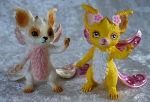 Schleich Iloris' Bear repaint as Butterbear Wuzzle by redmermaidwerewolf