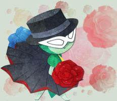 Tuxedo Rose by LadyDeven