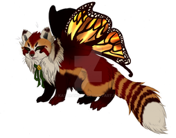Butterfly Red Panda PAYPAL ADOPT AUCTION GONE by KasaraWolf