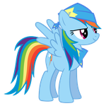 Rainbow Dash Vector - A True Fan by Anxet
