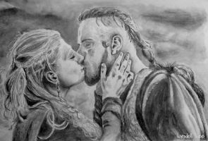 Lagertha and Ragnar by LyndellLee