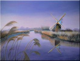 Kentish windmill acrylic on canvas by Artisan30