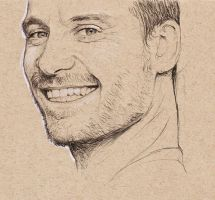 Fassbender in Biro by bec1989