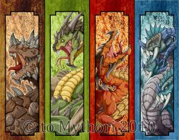 Bookmark designs finished by mythori